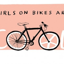 Girls on bike are cool